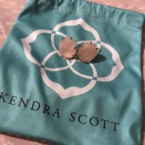 Kendra Scott Rose Quartz Morgan Studs